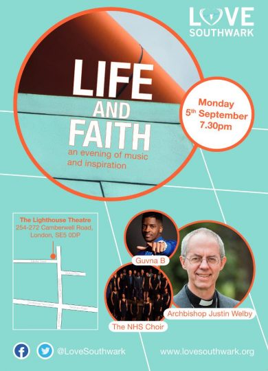Love Southwark Mission with Archbishop Justin Welby @ The Lighthouse Theatre | London | England | United Kingdom