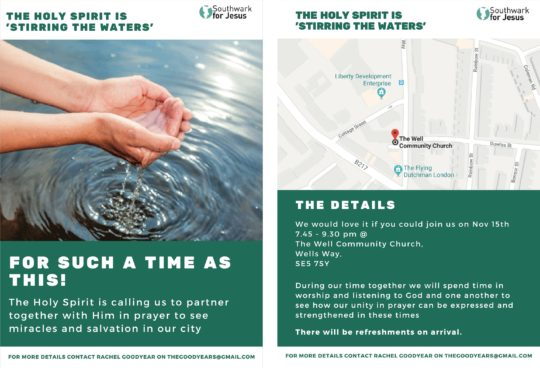 'Stirring The Waters' Prayer For Southwark @ The Well Community Church | England | United Kingdom